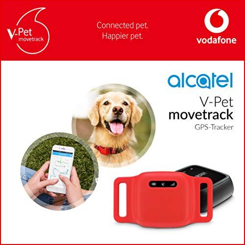 V-Pet movetrack by Vodafone - Echtzeit LIVE GPS Tracker für Hunde und Katzen + 3 Monate Service Gutschein (kostenfreies Datenpaket)